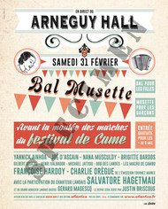"Affiche ""Bal Musette"""